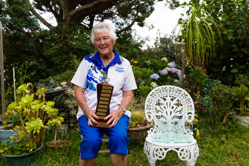 shirley and her trophies (1 of 1)